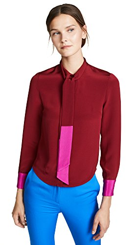 Julianna Bass Women's Peer Blouse, Purple/Pink, ()