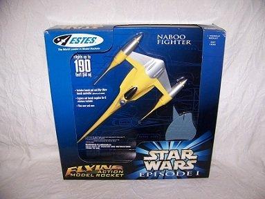 Estes Flying Model Rocket Star Wars Episode I Naboo Fighter