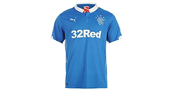 new product fbf3c 0f819 Amazon.com : PUMA 2014-2015 Rangers Home Football Soccer T ...