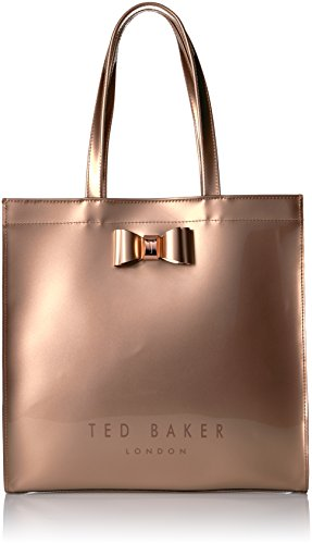 Ted Baker Bethcon Bow Detail Large Icon Bag, Rose Gold, One Size