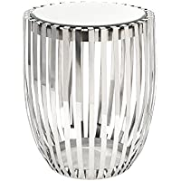 IMAX 19951 Xanthia Steel and Mirror Accent Table