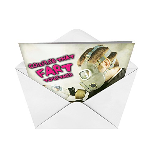 J jumbo funny anniversary card together with envelope