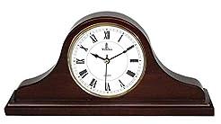 Mantel Clock, Silent Decorative Wood Man...