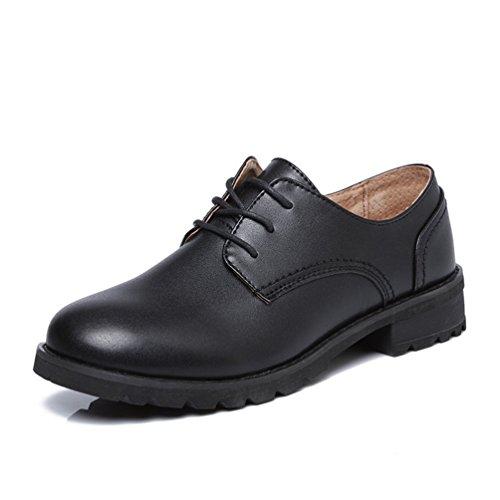 Mode Gris Chaussures Derbies Noir Mocassins JRenok Antidérapantes Casual Ville Confortable Noir de Walking Femme w7z1ZqS