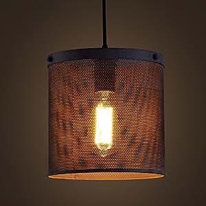 qinxi Retro Bar Iron Lamp Modern Minimalist Industrial Style Chandelier