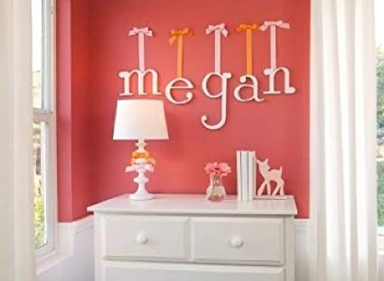 "Nursery /& Baby/'s Room Wooden Hanging Wall Letters /"" k /"" Baby Name Wall Letters Girls Bedroom Wall Hanging Letter D/écor White Hanging Decorative Wood Letters for Children/'s"