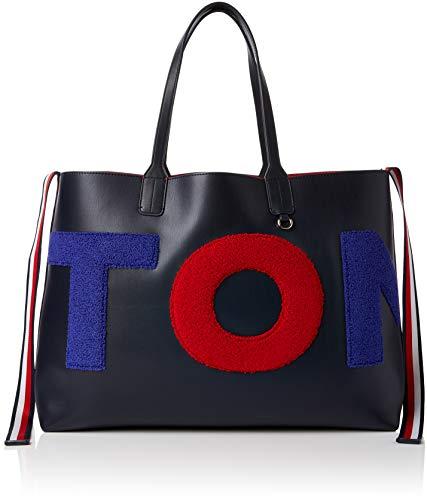Tommy Twlng T 5 Tommy Navy Hilfiger x Tote Donna 5x14x42 Blu Borse Iconic B cm Towling H 31 rtrqTWgU