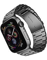 ARTCHE Sportband för Apple Watch rostfritt stål ersättningsrem armband justerbart armband bälte, kompatibelt med iwatch Series 6 SE 5 4 3 2 1