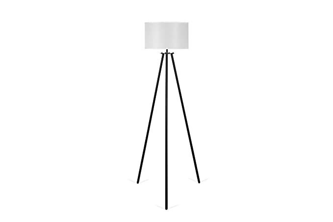 LIFA LIVING Lámpara de pie tripode | Lámpara de suelo para salón, sala de estar, comedor, dormitorio | Diseño vintage estilo nordico | Alt.1,50 m ...