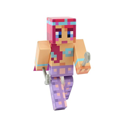 [Mermaid Girl Action Figure Toy, 4 Inch Custom Series Figurines, EnderToys] (Skeleton Minecraft Costume)