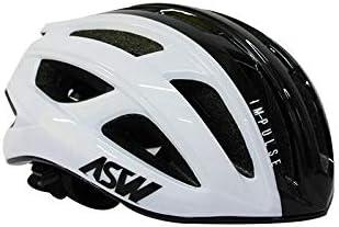Capacete Ciclismo Bike Asw Impulse Preto Branco