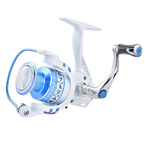 (betterluse Centron Low Profile Freshwater Spinning Reel Max Drag 8KG Carp Fishing Reel for Bass Fishing 500 5000 Series,Silver,10,500 Series )