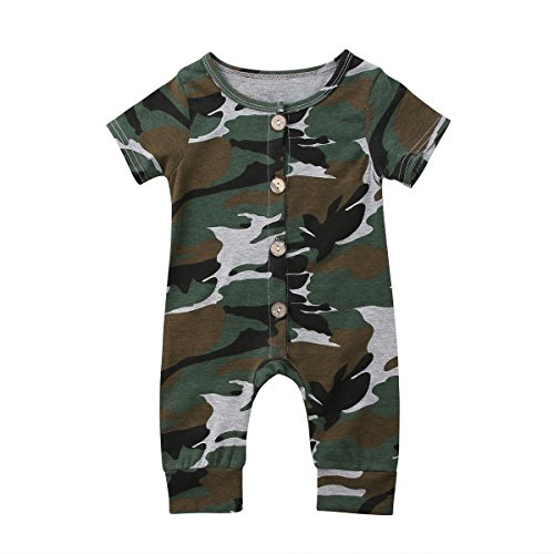 Emmababy Baby Boys Girls Jumpsuit Hoodie Romper Outfit Long Sleeve Creepers Bodysuit Clothes 1218Months Camo