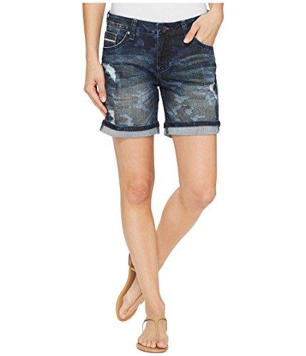 哺乳類キャンバス電話[ジャグジーンズ] Jag Jeans レディース Alex Relaxed Boyfriend Shorts in Camo Printed Denim パンツ [並行輸入品]