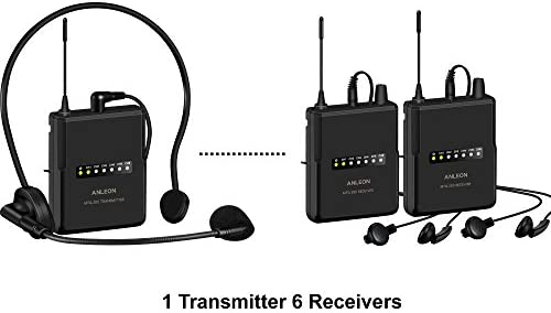 Musical Instruments Wireless Headset Microphones 2 Receivers ...
