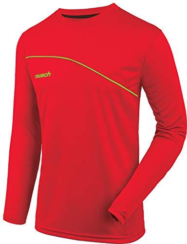 (Reusch Match Prime Padded Long Sleeve Goalkeeper Jersey, Red/Lime, Adult XXL)