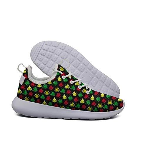 hoohle maille modulable modulable modulable sports   coloré plants de cannabis roshe 2 léger belle course de cross - country chaussures 053911