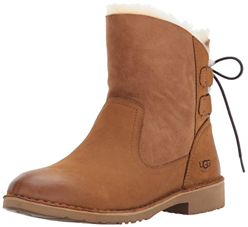 Ugg Fur Boots (UGG Women's Naiyah Winter Boot, Chestnut, 8 M US)