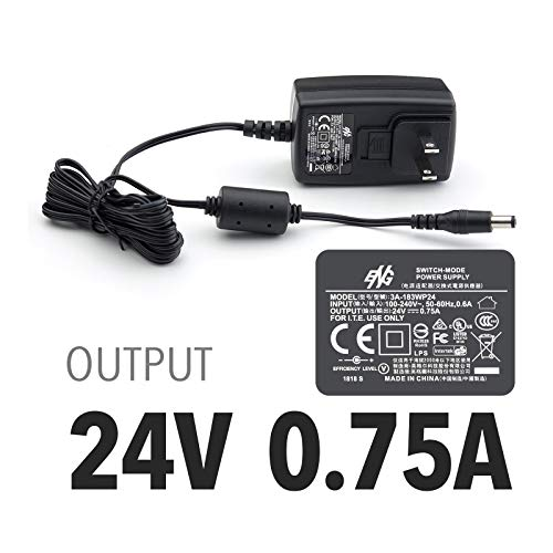 Plustek Power Adapter 24V 0.75A for Z300, PS186 PS188 PS286+ PS283 PS3060U, OpticBook 3800 3900 4800,AD480 D430, OpticSilm 1180 use