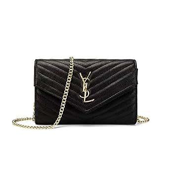 Women Small Black Shoulder Bag Wristlet Clutch Phone Wallet