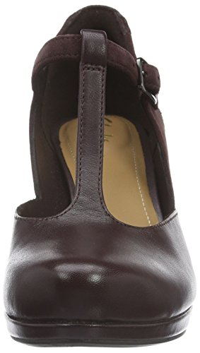 Mujer Chorus Zapatos Morado de Gia Aubergine Clarks Leather para Tacón xwUnq1xFY