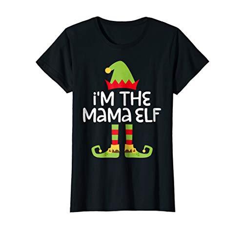 Womens I'm The Mama Elf T-Shirt Matching Christmas Costume Shirt ()