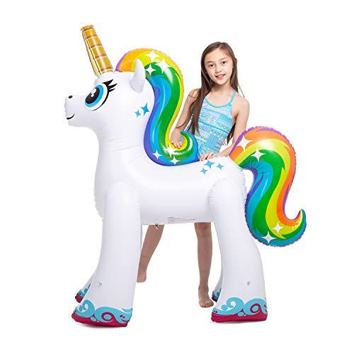 JOYIN Inflatable Unicorn Yard Sprinkler, Lawn Sprinkler for Kids, 55'' Tall by JOYIN (Image #1)