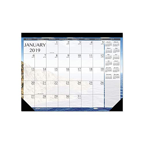 (An Item of House of Doolittle Earthscapes Seascapes Desk Pad Calendar, 18 1/2