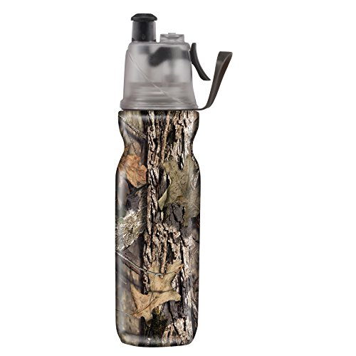 O2COOL ArcticSqueeze Insulated Mist 'N Sip Squeeze Bottle 20 oz, Mossy Oak Break Up Country