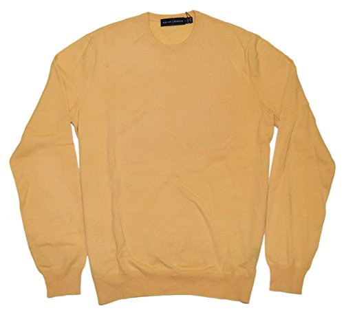 Polo Ralph Lauren Black Label Mens Cashmere Pullover Sweater Italy Yellow Small by RALPH LAUREN