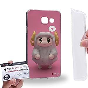 Case88 [Samsung Galaxy A3 (2016)] Gel TPU Carcasa/Funda & Tarjeta de garantía - 3D Visual Design Sheepy F 3D Animals Art1950