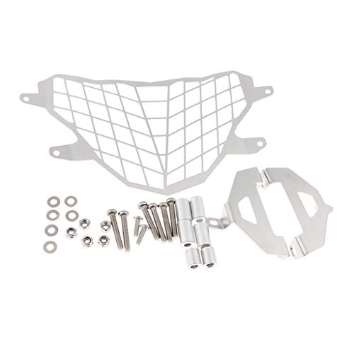Baosity Motorcycle Headlight Grille Cover with Mounting Hardware for BMW G310GS 2017-2018 - Silver
