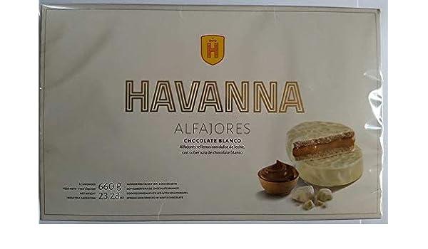 Amazon.com : Alfajores Havanna de chocolate Blanco rellenos de dulce de leche x 12 unidades : Grocery & Gourmet Food