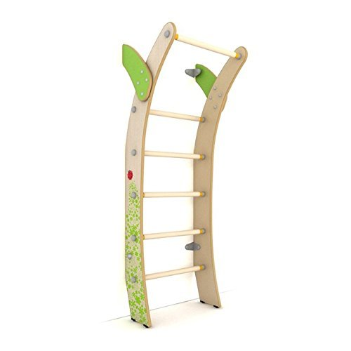 Indoor Wooden Kids Playground Play Set / Family Swedish Wall Luna / Wall Mounted Climbing ladder Set / Suit for Apartment, School, Kids room and Playroom / Moon Style S