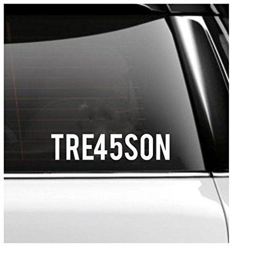 TREASON 45 Car Decal- Trump