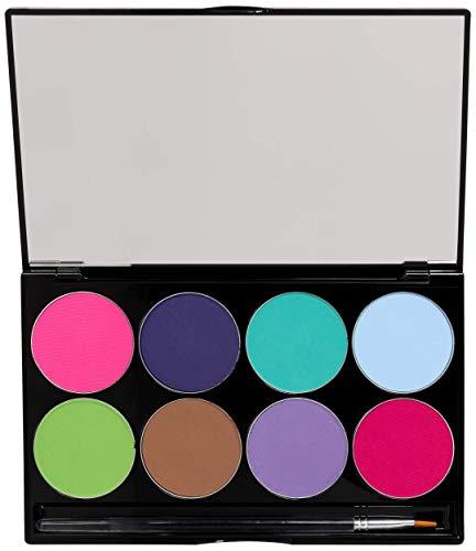Mehron Makeup Paradise AQ Face & Body Paint 8 Color Palette (Pastel)