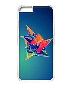 VUTTOO Iphone 6 Plus Case, Colorful Cool Abstract Polygonal Shape Hard Plastic Case for Apple Iphone 6 Plus 5.5 Inch PC Transparent