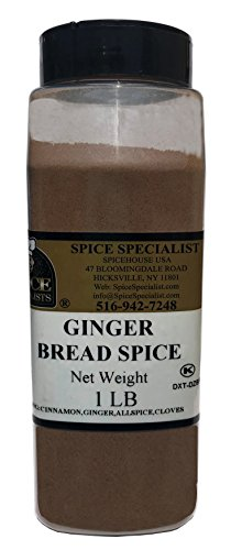 - Chef Cherie's Gingerbread Spice in a One Pound Plastic Container