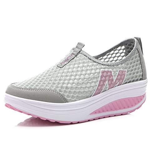 Respirables Zapatos Deportivos Nuevos Ocasionales Zapatos Zapatos Las Hasag de Malla Deportivos Zapatos de Mujeres wZ7pqK4E