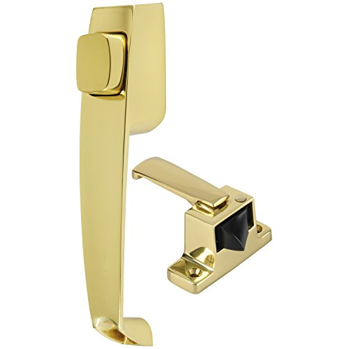(Wright Products VRG003-333 Accents Cumberland Push Button Latch, Polished Brass)
