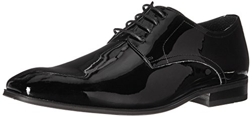 Florsheim Men's Tux Plain Toe Tuxedo Formal Oxford, Black Patent, 8 Wide -
