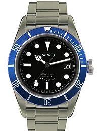 41mm Black Dial Sapphire Blue Bezel 24 Jewels Miyota 9015 Automatic Movement Men's Watch 100M Waterproof