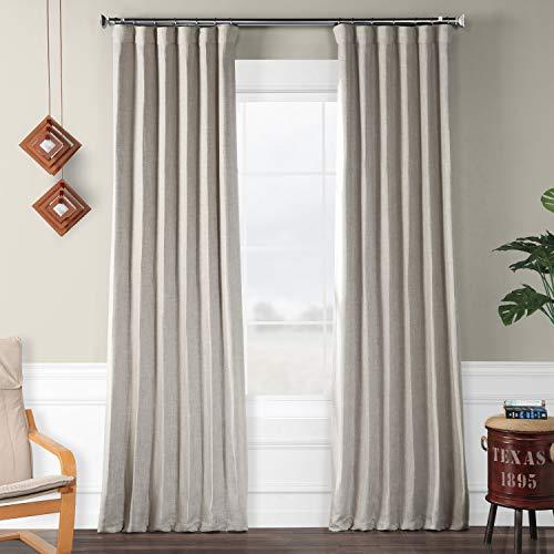 (HPD HALF PRICE DRAPES BOCH-LN1858-96 Faux Linen Room Darkening Curtains, 50 x 96, Clay)