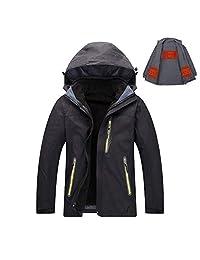 KINGWOLFOX 3 PCS Women's 5V USB Heated Jacket with Detachable Heating Inner Jacket