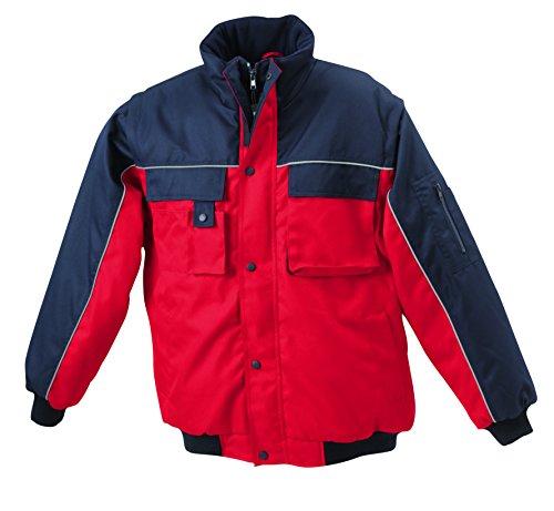 Giacca Red Con Maniche Staccabili Imbottita Jacket Workwear navy qnTqvUwr
