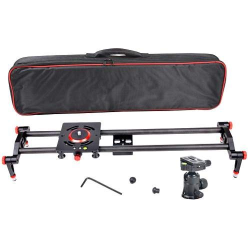 Came-TV Camera Slider with Carbon Fiber Rails & 60cm Adjustable Bearings, 22 lbs Capacity by Came-TV