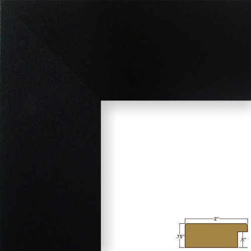 Craig Frames 20277704 16 by 20-Inch Picture Frame, Smooth Finish, 2-Inch Wide, - Black Frame Flat