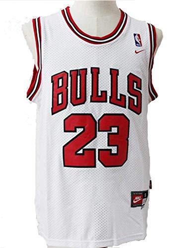 GJYJJKRY Jersey para Hombre NBA Michael Jordan 23 James Chicago Bulls Baloncesto Jersey Malla Bordada Retro Sports Vest…