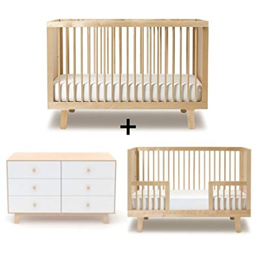 Oeuf Sparrow Collection Complete Nursery in Birch with 6 Drawers