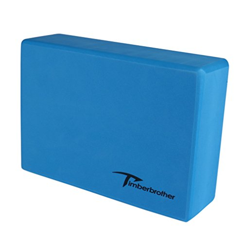 "Timberbrother Yoga Block (1 PC or 2 PC) - Choose Your Color & Size (Blue, 9"" x 6"" x 3"" (1pc))"